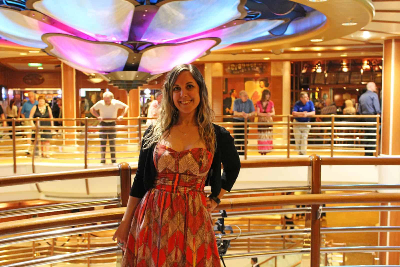 Evening Aboard the Caribbean Princess