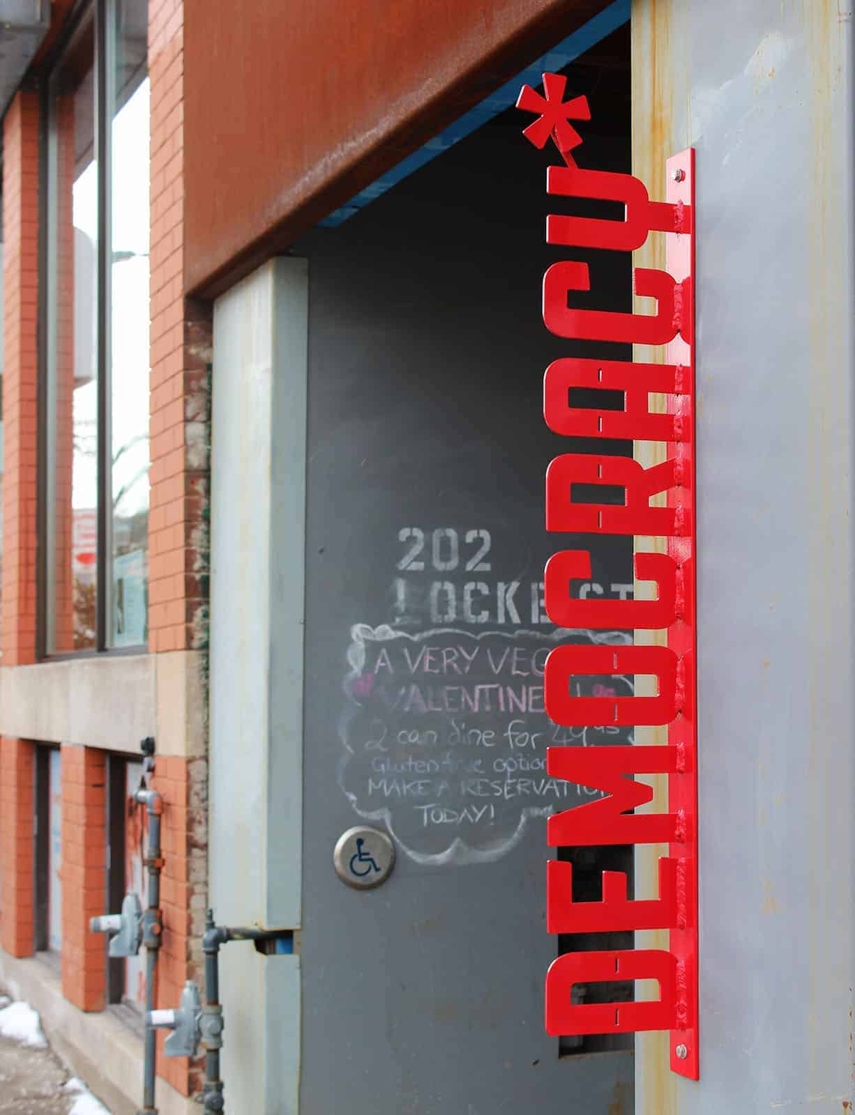 Democracy Coffee House on Locke Street in Hamilton, Ontario, Canada