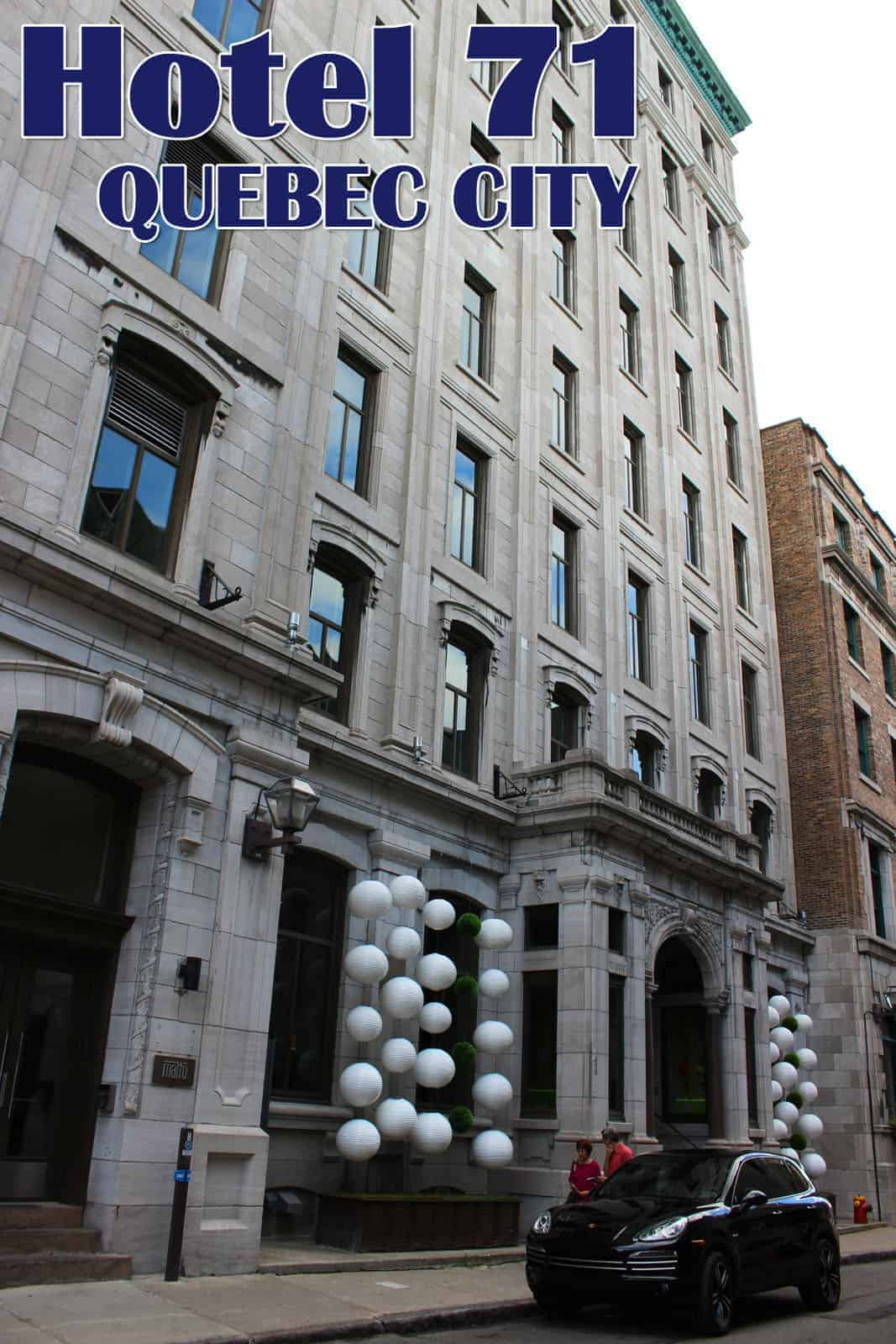 Hotel review hotel 71 in quebec city justin plus lauren for Design hotel quebec city