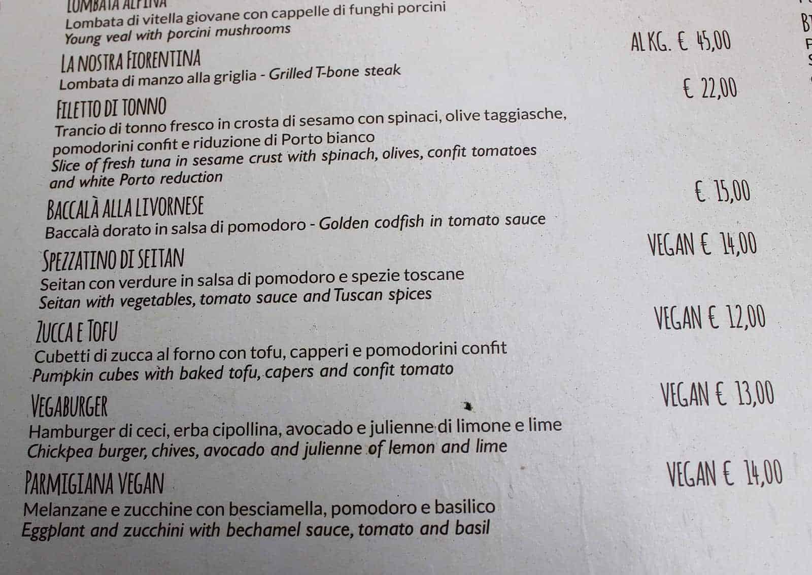 Authentic Tuscan cuisine gone vegan at Konnubio Florence