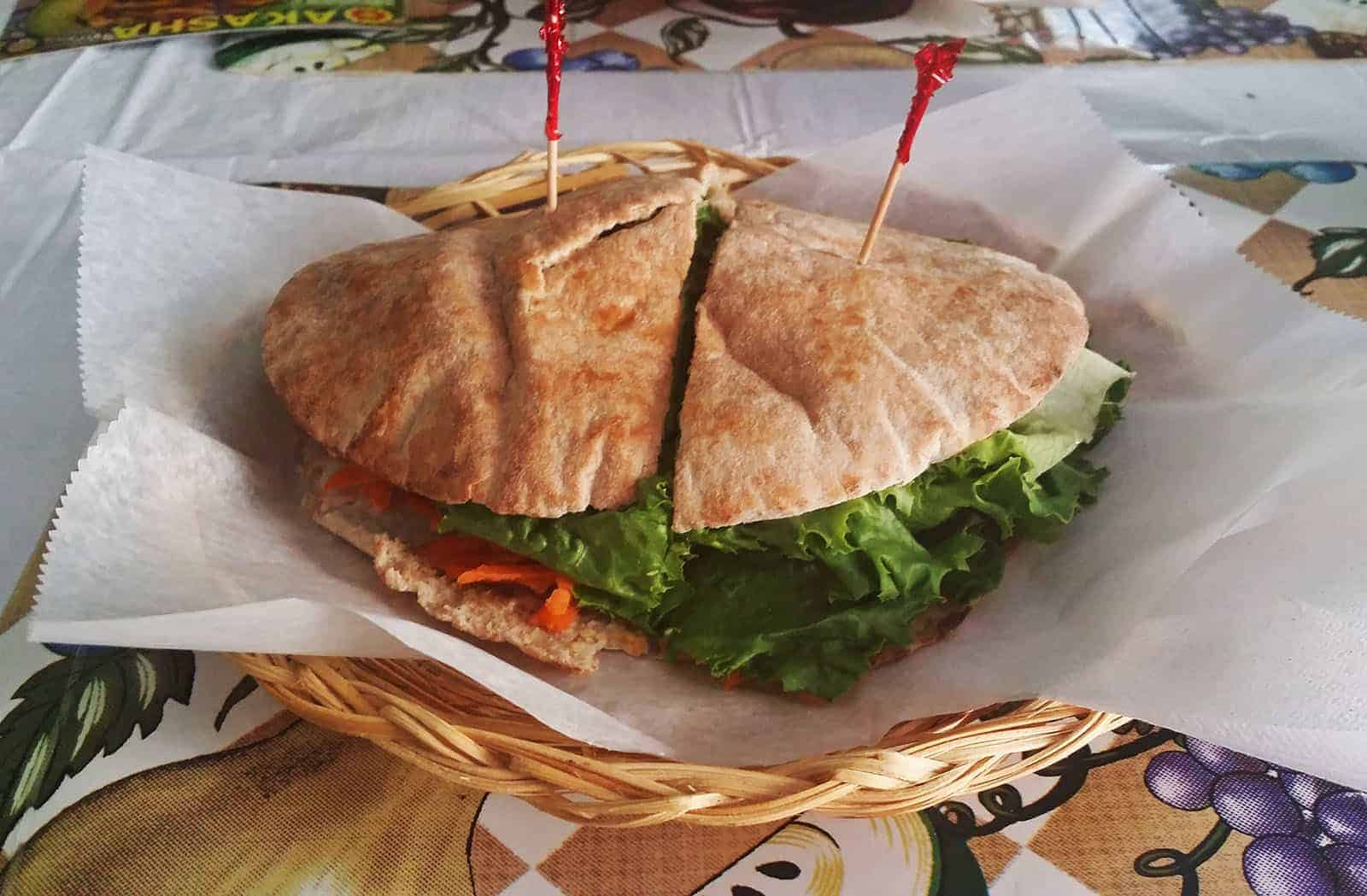 Sweet Life Cafe Veggie Burger St. Thomas