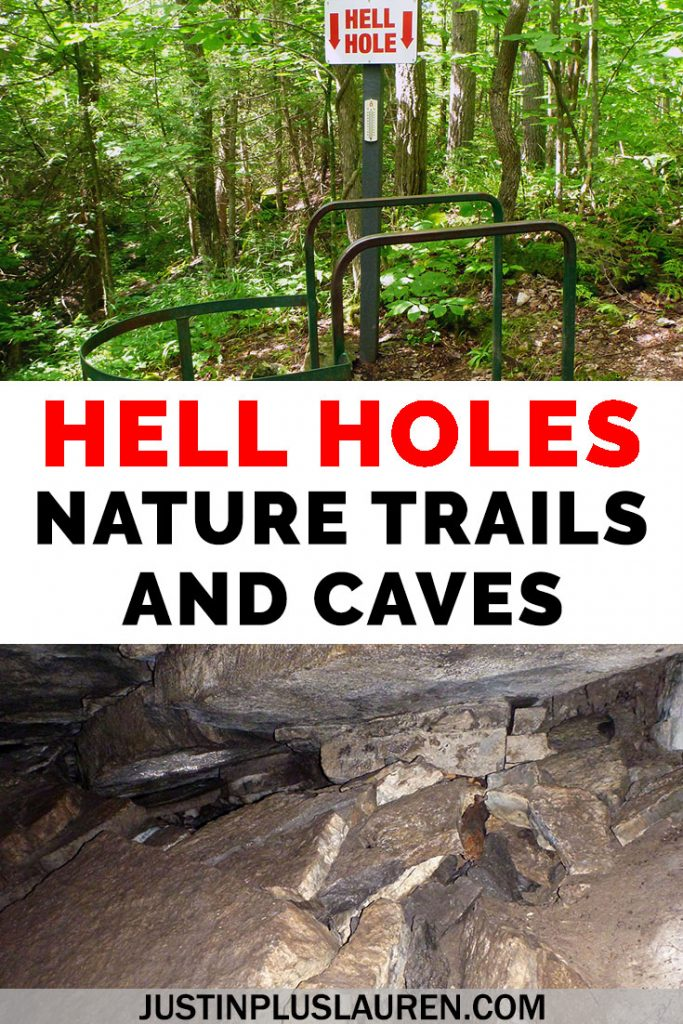Have you heard of the Hell Holes Nature Trails and Caves? It's a hidden gem that you can visit on a road trip from Toronto, near Kingston and Napanee, Ontario. Climb down into a cave, hike through forests, and view interesting rock formations. #Travel #Ontario #Canada #Hiking #Caves #RoadTrip