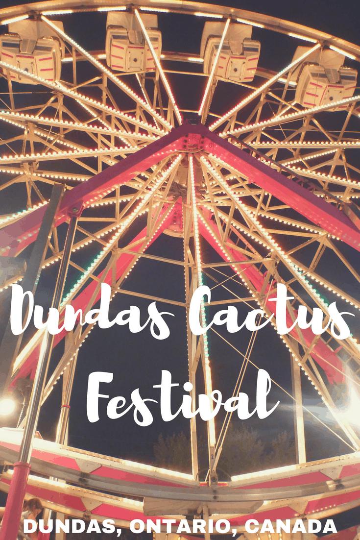 Dundas Cactus Festival: Annual Fair Dundas Ontario Canada