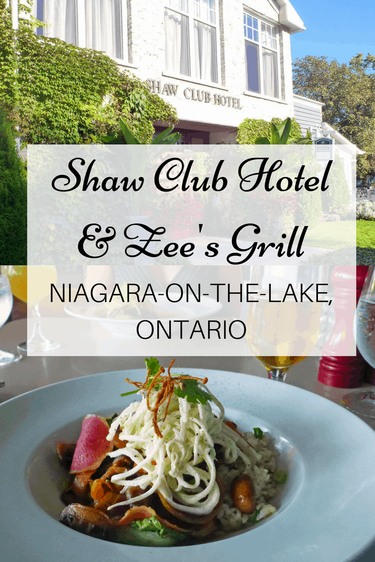 Shaw Club Hotel and Zee's Grill - Niagara on the Lake, Ontario, Canada | Vegan Dining in Niagara Region | Niagara-on-the-Lake, Ontario, Canada