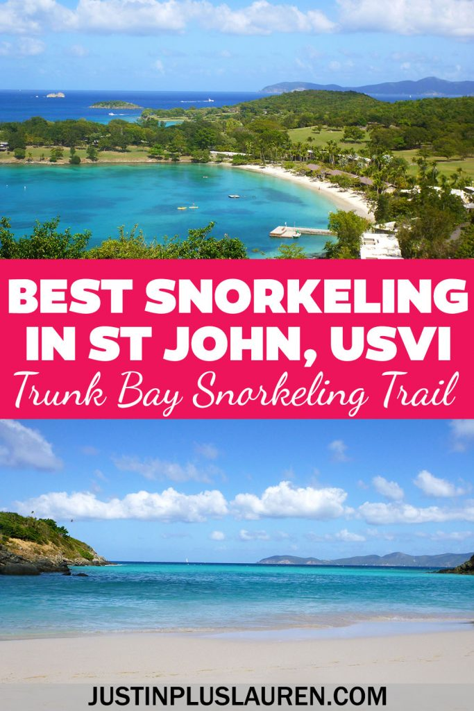 You'll find some of the best snorkeling in the Caribbean in St John, US Virgin Islands. Trunk Bay has an epic underwater trail where you can see so many beautiful fish. We'll show you how to experience the best snorkeling in St John, USVI.