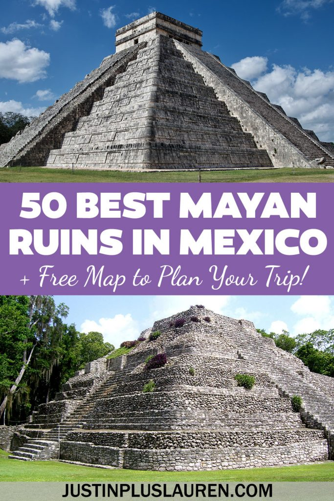These are the 50 best Mayan ruins in Mexico that you need to see! Learn more about the best Mexico ruins from across the country along with a free map to plan your visit.