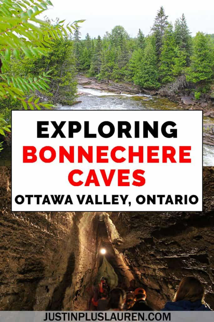 Bonnechere Caves is one of the most fascinating caves in Ontario, Canada. They're located within driving distance from Toronto, Ottawa, and Montreal. We'll show you what it's like to take a tour at Bonnechere Caves so you can plan your adventure! #BonnechereCaves #Caves #Ontario #Canada #Travel