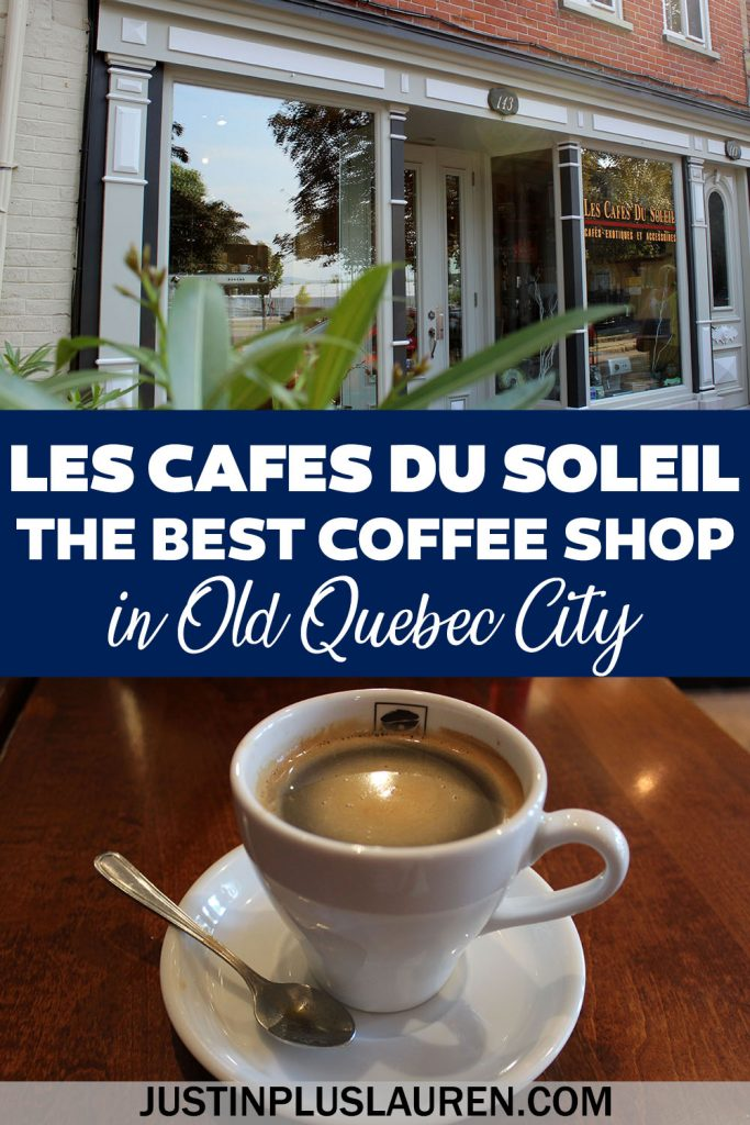 Les Cafes du Soleil is one of the best coffee shops in Quebec City! Established in 1993 in Old Quebec, it's a must visit cafe for coffee lovers. If you can't make it to Quebec City, they've got a fantastic online shop with roasted beans from all over the world.