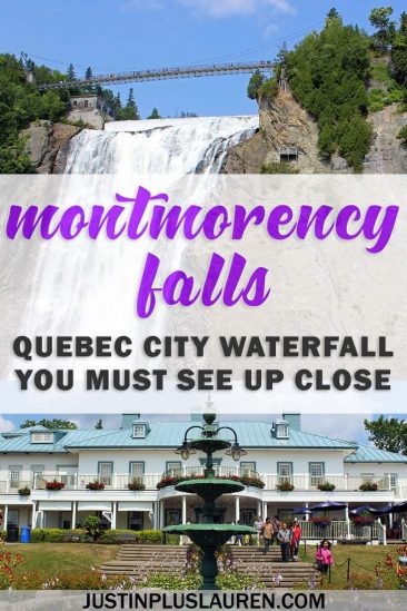Montmorency Falls Quebec City: An Impressive Waterfall You Must See Up Close #QuebecCity #Quebec #Canada #Waterfall #MontmorencyFalls #MontmorencyPark #ChuteMontmorency