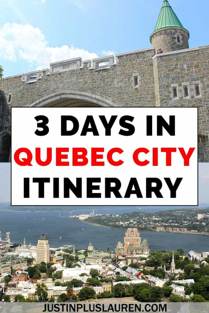 Here's the only Quebec City itinerary you need to plan an amazing getaway! Here's exactly how we spent 3 days in Quebec City, visiting fascinating historic sites, natural attractions, and top restaurants. #QuebecCity #Travel #Itinerary #TravelGuide #Canada