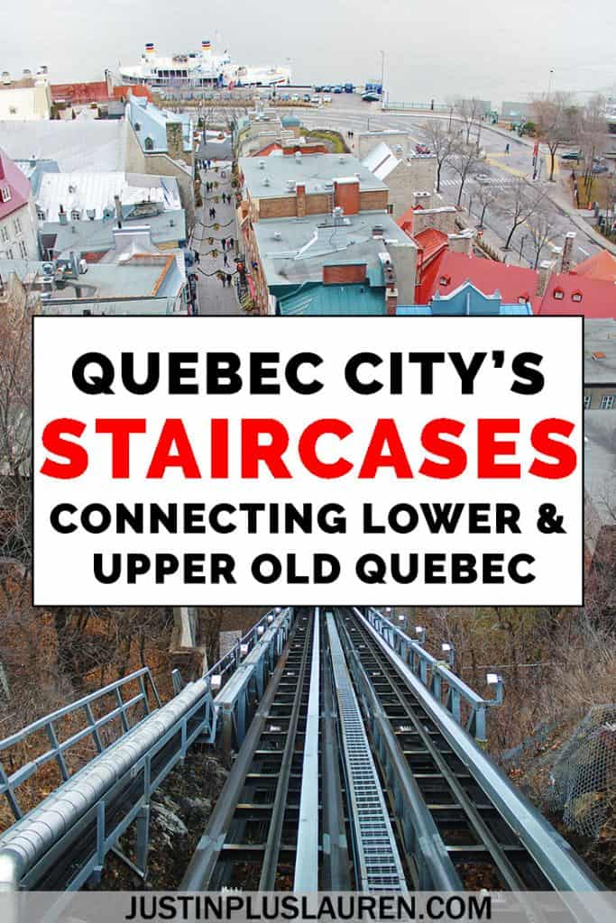 Who knew that staircases could be so fascinating! There are 30 stairways in Quebec City that connect Old Quebec's Upper and Lower Towns, and each is more intriguing than the next. Here are the stairs you need to climb when you're in Quebec City. #QuebecCity #Canada #Quebec #Stairs #History