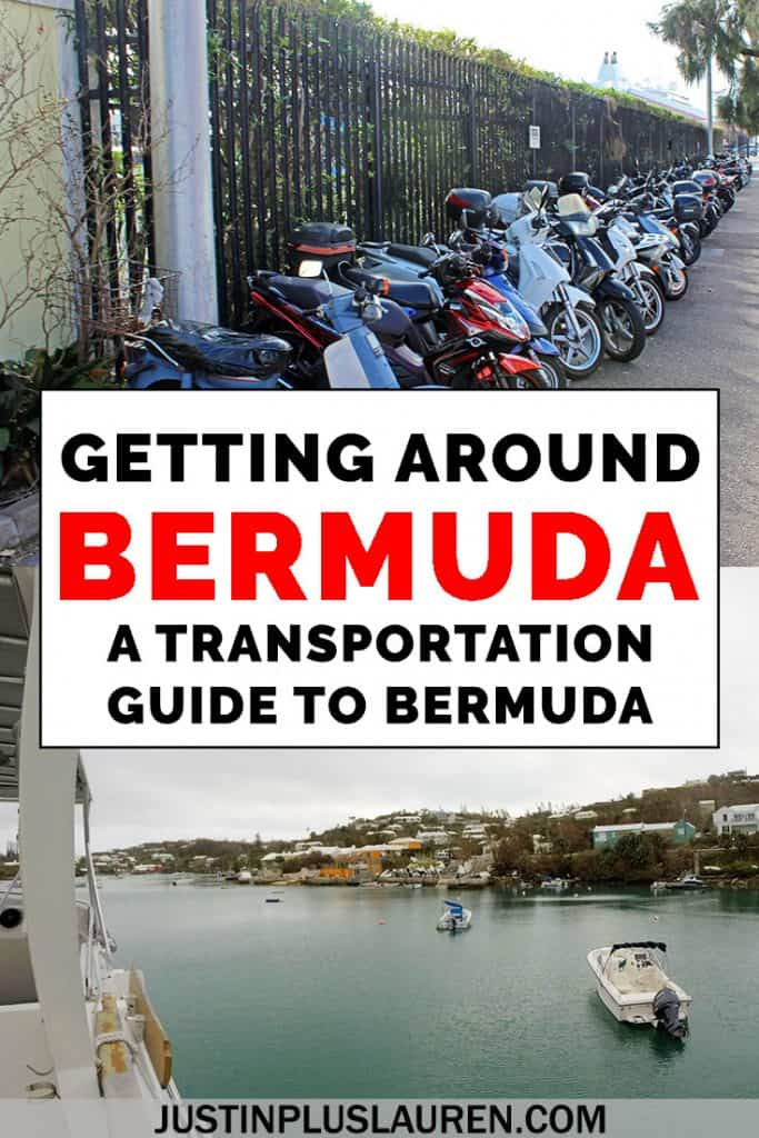 How can you get around Bermuda when tourists aren't allowed to rent cars? There are so many transportation choices in Bermuda, and we'll tell you about all of our options in this handy Bermuda transportation guide! Renting scooters is our favorite, but we'll help you navigate public transportation, too. #Bermuda #Transportation #Scooters #Mopeds #Island