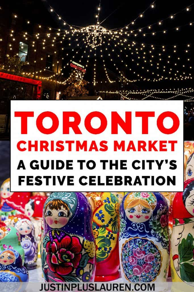 Visiting the Toronto Christmas Market? Here's everything you need to know before visiting this popular festive winter market at the historic Distillery District. #Toronto #Canada #Christmas #Market #Festival #ChristmasMarket