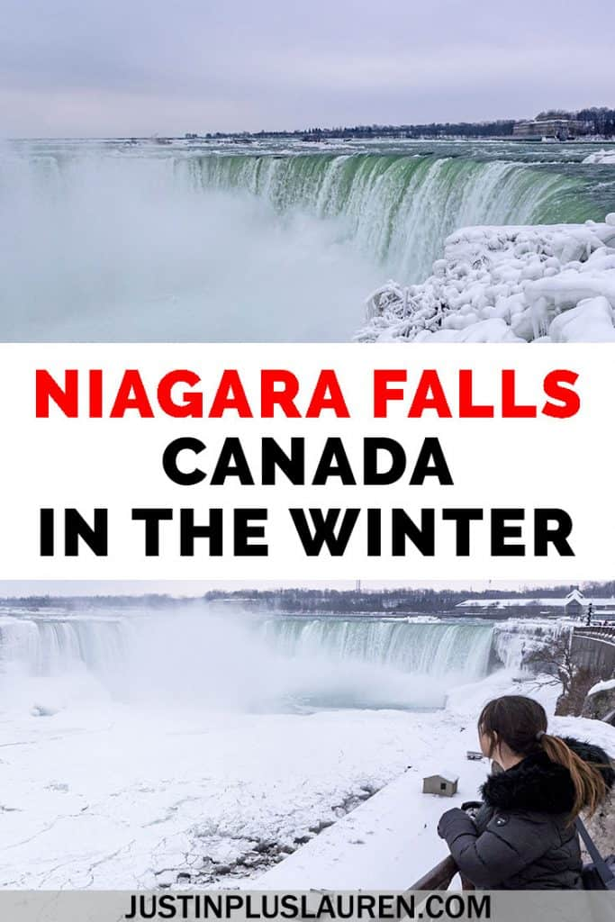 Ever thought about visiting Niagara Falls in winter? There are lots of things to do in Niagara Falls in the winter throughout November, December, January, and February. From viewing a beautiful frozen waterfall to attending various attractions and festivals, here's what to do in Niagara Falls in winter. #NiagaraFalls #Canada #Winter #Waterfall #Frozen