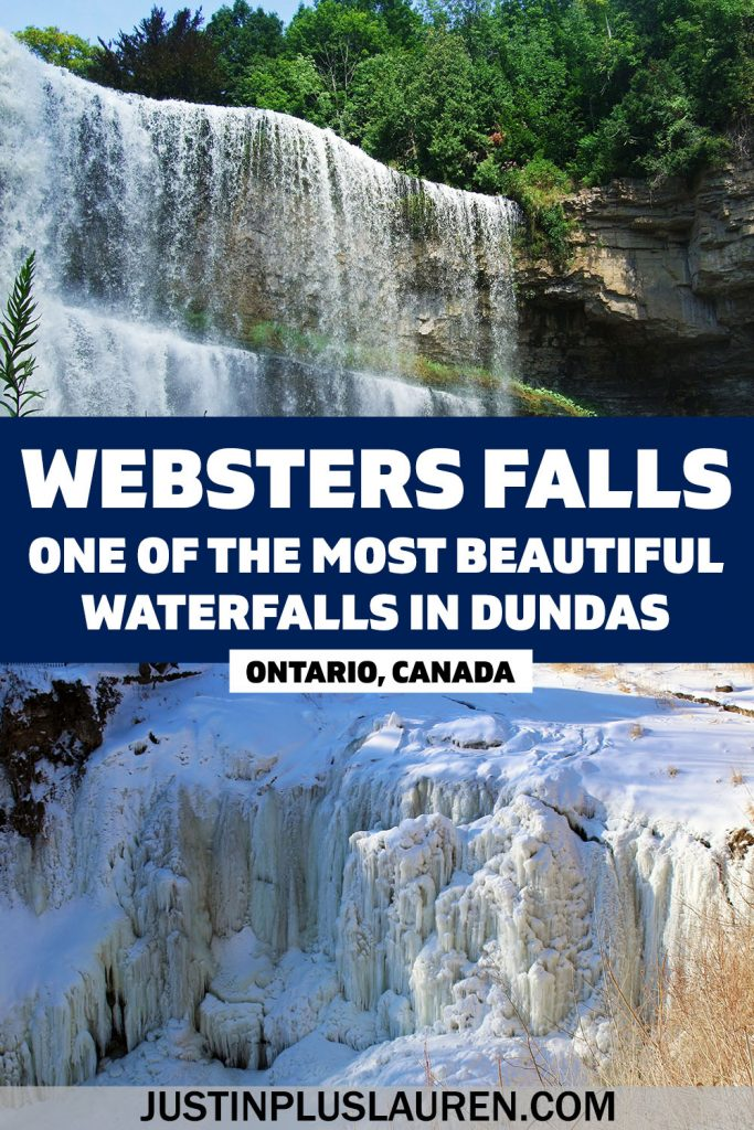Webster Falls is one of the most beautiful and iconic waterfalls in Hamilton! Located in the town of Dundas, here's the most comprehensive guide to planning your visit to Webster's Falls, including a trip around Spencer Gorge Conservation Area, Tews Falls, and the Dundas Peak.