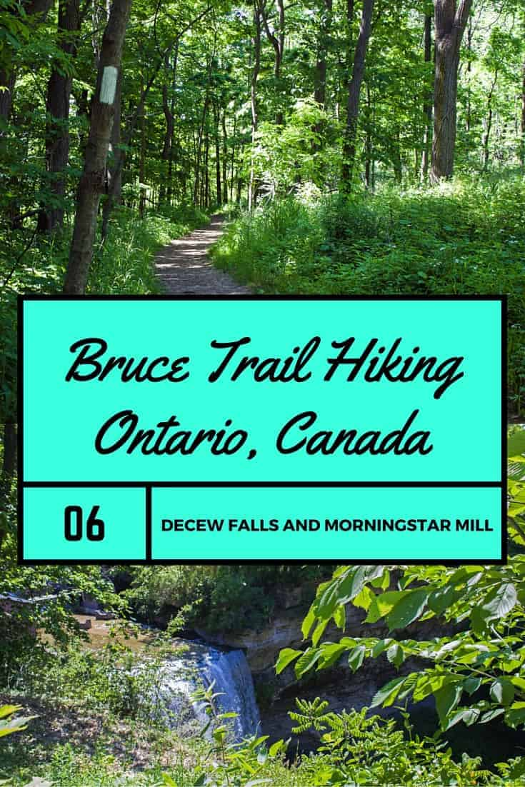 Bruce Trail Hiking - Ontario, Canada. Hike #6 - DeCew Falls and Morningstar Mill.