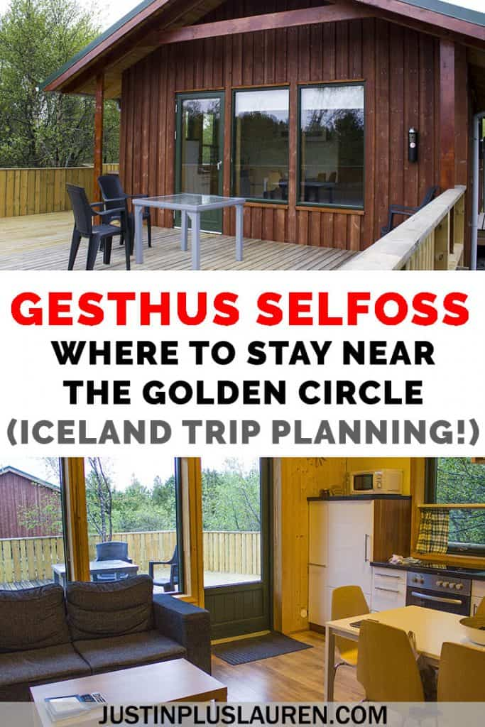 Planning an Iceland road trip? Here's the best hotel near the Golden Circle, Gesthus Selfoss. Here's our full review of this accommodation in Selfoss and why you should spend the night in this luxurious cottage! #Iceland #RoadTrip #GoldenCircle #RingRoad #Selfoss #Hotel
