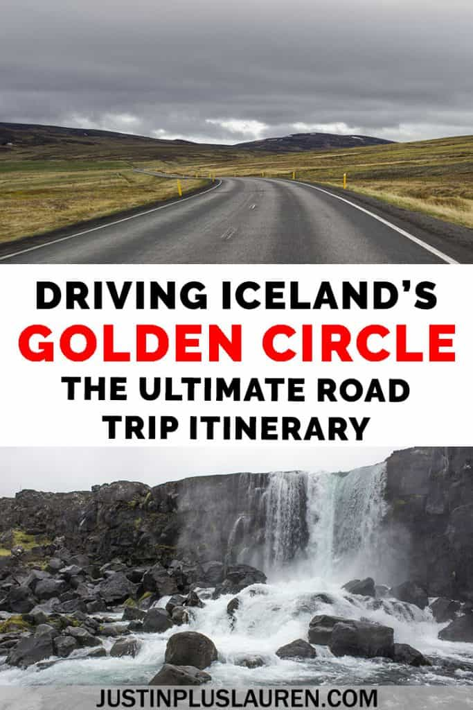 How to drive the Golden Circle in Iceland. Here's the ultimate itinerary for exploring Iceland's Golden Circle in a day. This road trip will take you to all of the natural attractions on a day trip from Reykjavik. #Iceland #Travel #GoldenCircle #RoadTrip #Driving