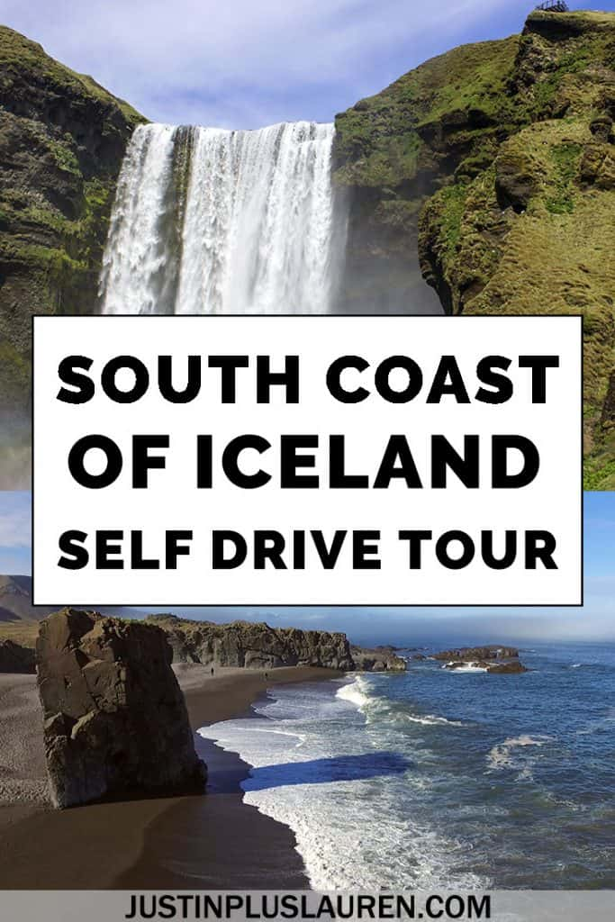 There are so many beautiful places to visit on Iceland's South Coast: waterfalls, black sand beaches, and even an old plane wreck! Here's how to do a self drive tour of the South Coast of Iceland for the ultimate road trip adventure. #Iceland #RoadTrip #SouthCoast #Waterfall #BlackSandBeach