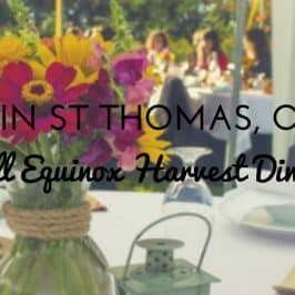 Vegan St Thomas Ontario – Fall Harvest Dinner