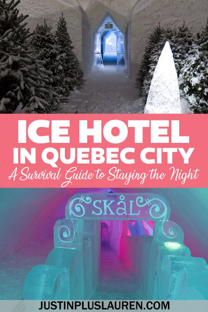 Staying at the Ice Hotel in Quebec City, also known as the Hotel de Glace. Take a tour of the Ice Hotel, the ice bar, the ice chapel, and learn some top tips to prepare for your stay!