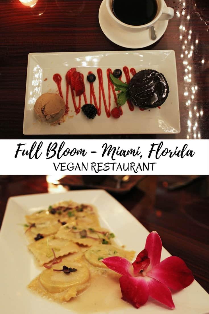 Full Bloom Miami Vegan Restaurant