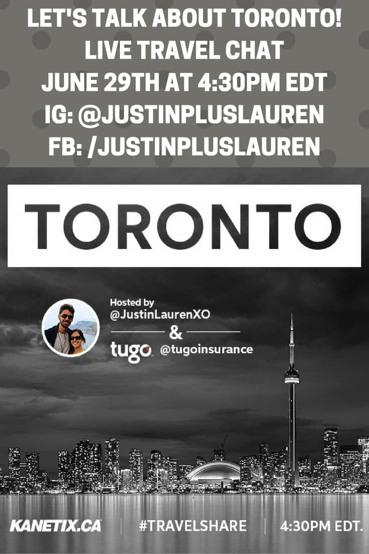Let's Chat About Toronto: Join Me For #TravelShare on Facebook and Instagram!