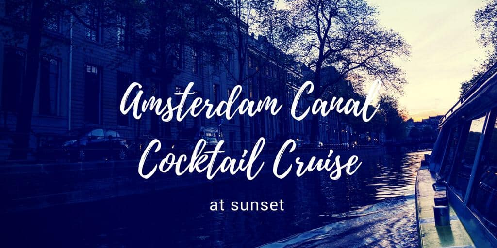 Amsterdam Canal Cocktail Cruise at Sunset