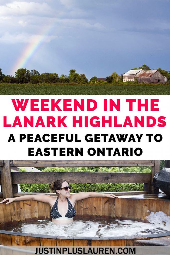 Looking for a road trip from Toronto or southern Ontario? A peaceful retreat to explore rural and small town Ontario? Look no further than the Lanark Highlands! Here's how to spend an amazing weekend in eastern Ontario. #Ontario #Canada #Travel #Weekend #LanarkCounty