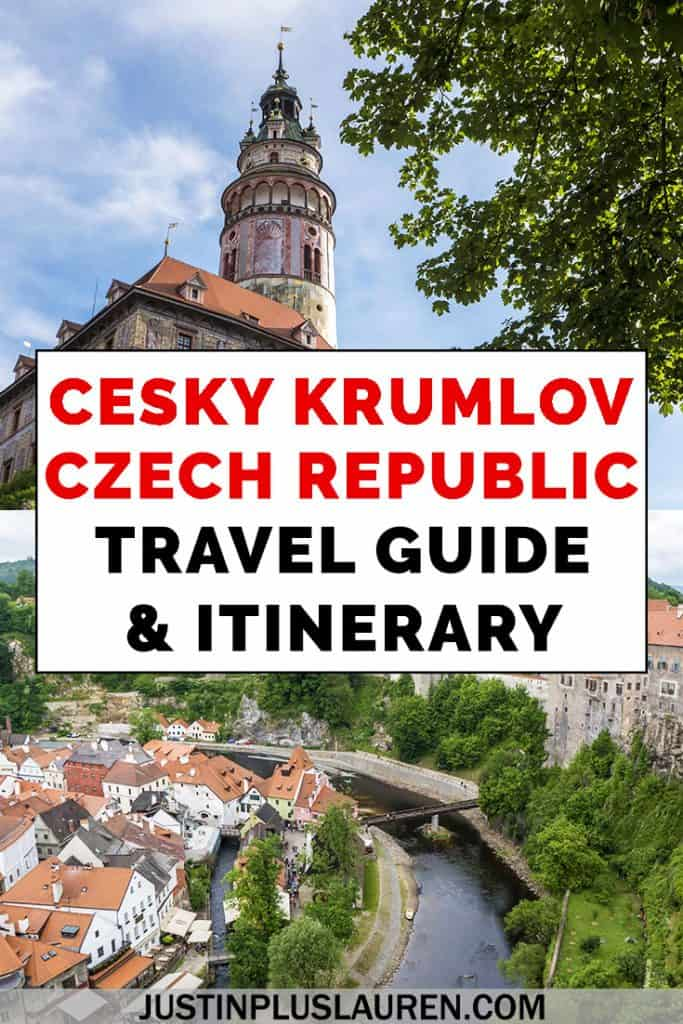 If you're visiting Prague, Cesky Krumlov is the perfect day trip or overnight stay. Cesky Krumlov is a picturesque little town with lots of history. Here's our Cesky Krumlov travel guide and 1 day itinerary. #CzechRepublic #CeskyKrumlov #Travel #Itinerary #DayTrip #Prague