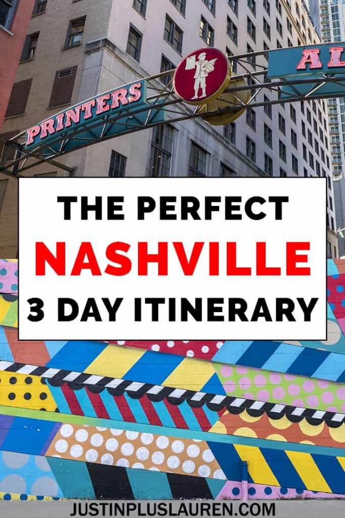 If you're planning a trip to Nashville, we've got an amazing Nashville 3 day itinerary for you! Here's how to spend a weekend in Nashville, or an extended 3 days in Nashville, Tennessee. #Nashville #Travel #Itinerary #Tennessee #Weekend #3Days