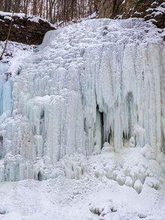 Winter waterfalls in Hamilton Ontario