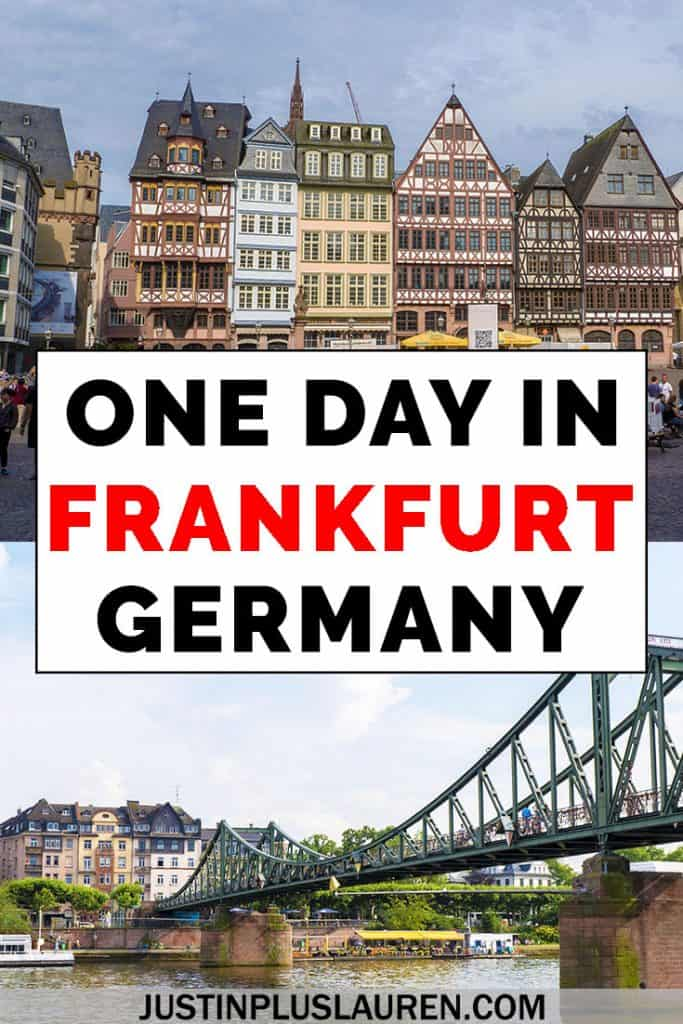 If you have only one day in Frankfurt, Germany, we've got a wonderful travel itinerary for you! Here are the best things to do in Frankfurt for a day. #Frankfurt #Germany #Travel #Itinerary #OneDay #ThingsToDo