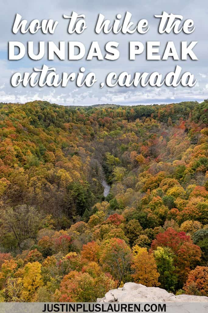 An Insider's Guide to Hiking the Dundas Peak: How to See Amazing Waterfalls and Stunning Views #Dundas #Ontario #Canada #Travel #Hiking #Fall