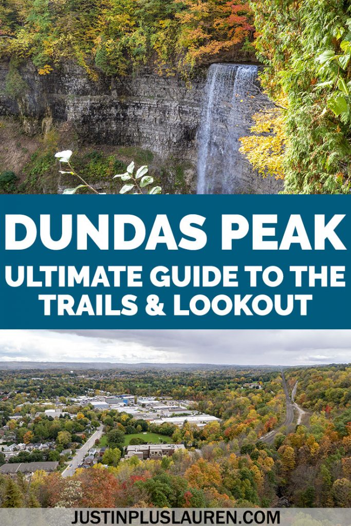 The Dundas Peak lookout is one of the best scenic views in Ontario, Canada! Hike the Dundas Peak trail in Hamilton to view beautiful waterfalls. Here's my guide to hiking the Dundas Peak from the perspective of a local.