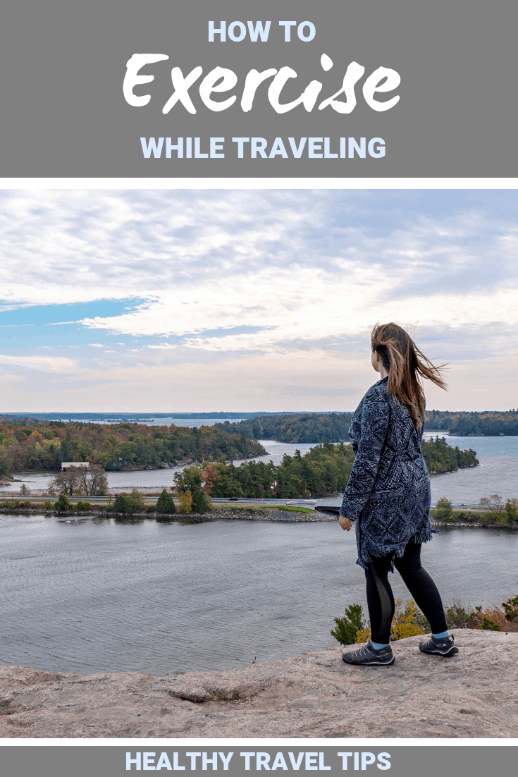How to Exercise While Traveling: Healthy Travel Tips #TravelTips #Exercise #Fitness #Health