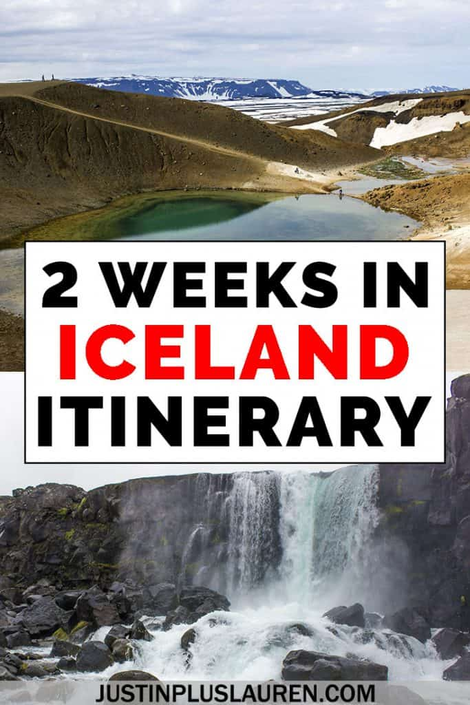 A road trip of Iceland is an amazing getaway of a lifetime. Here's the ultimate Iceland 2 weeks itinerary to help you plan an epic vacation. #Iceland #Travel #Itinerary #2Weeks #RoadTrip