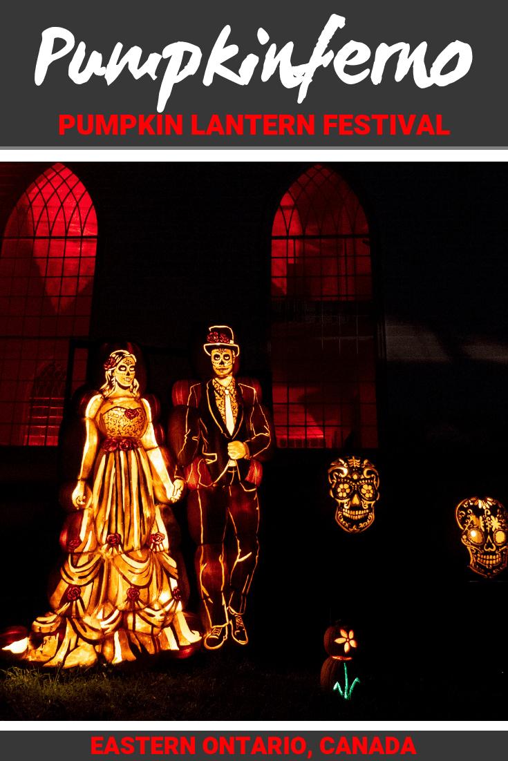 Pumpkinferno: Pumpkin Lantern Festival at Upper Canada Village, Ontario #Pumpkin #Festival #Halloween #Ontario #Canada