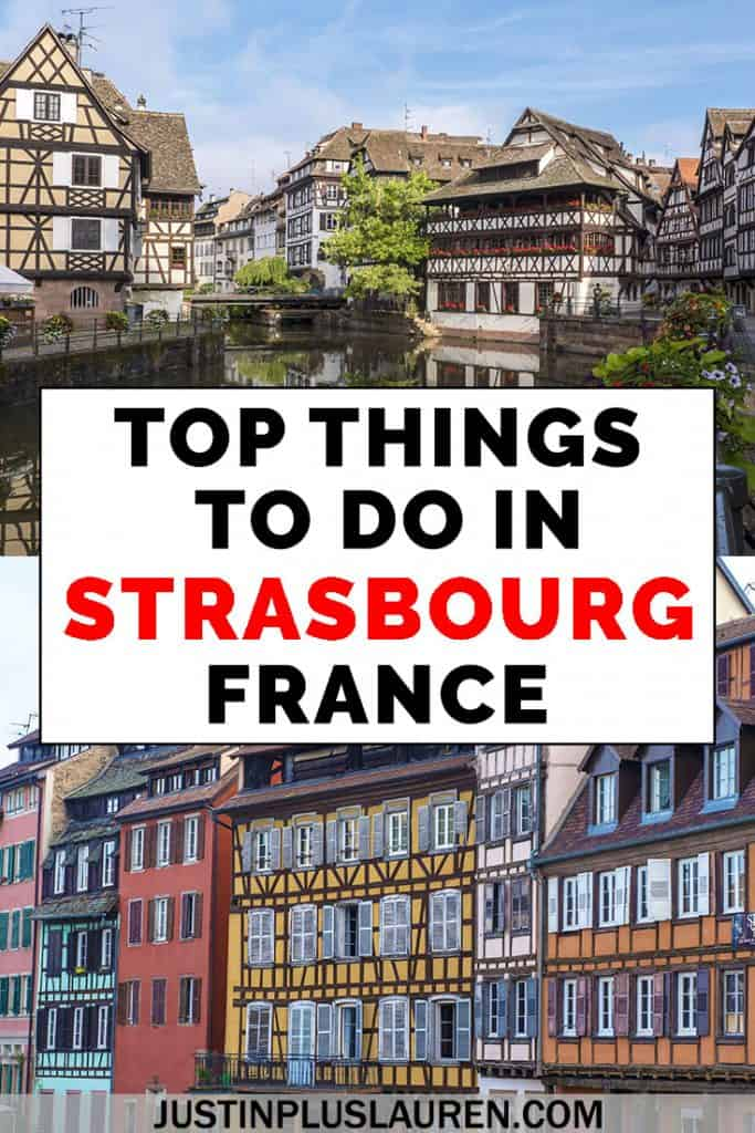Strasbourg, France is a fairy tale town with French and German influences. There are so many fun things to do in Strasbourg France. We'll show you how to make the most out of 1 day in Strasbourg with lots of things to see and do. #Strasbourg #France #Travel #Itinerary #ThingsToDo