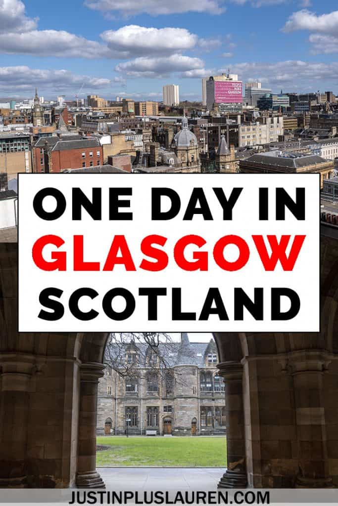 Even if you have just one day in Glasgow, you'll have an amazing time in this vibrant Scottish city. Here's the best Glasgow travel guide for 1 or 2 days in Glasgow. Lots of suggestions for activities, sightseeing, accommodations, restaurants, and more! #Glasgow #Scotland #Travel #Itinerary #ThingsToDo
