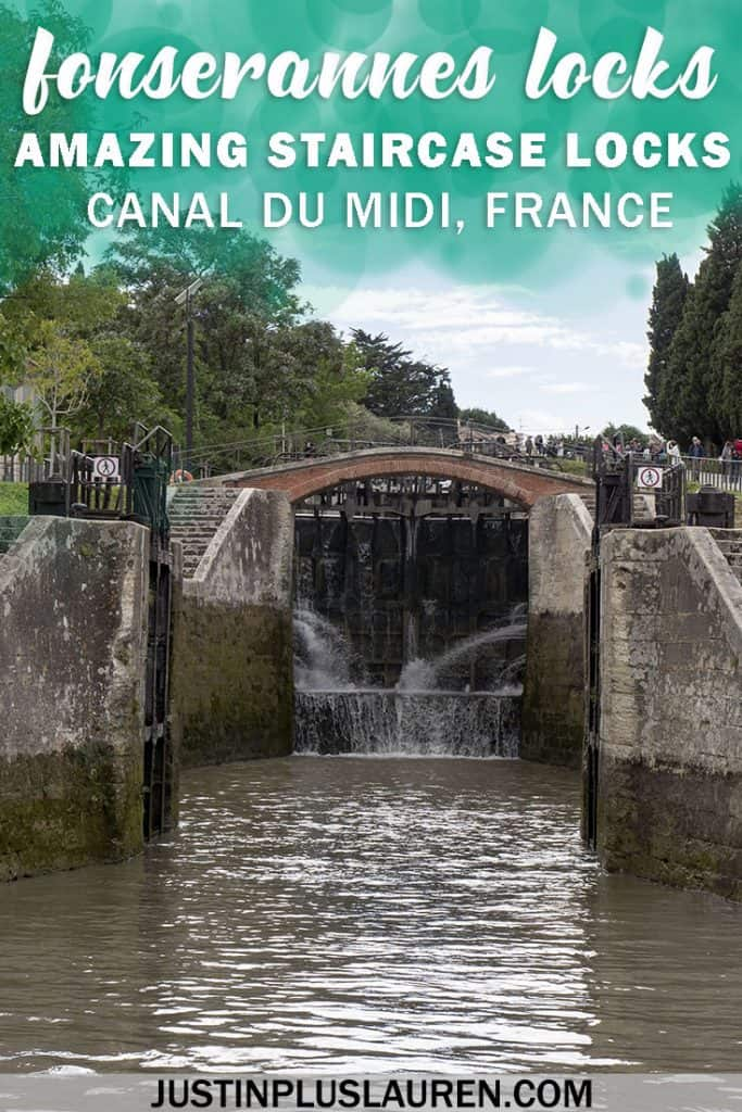 Fonserannes Locks - Amazing staircase locks of the Canal du Midi in the South of France #FonserannesLocks #CanalduMidi #France #SouthofFrance #Travel #Cruise