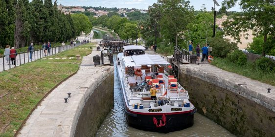 Fonserannes Locks on the Canal du Midi