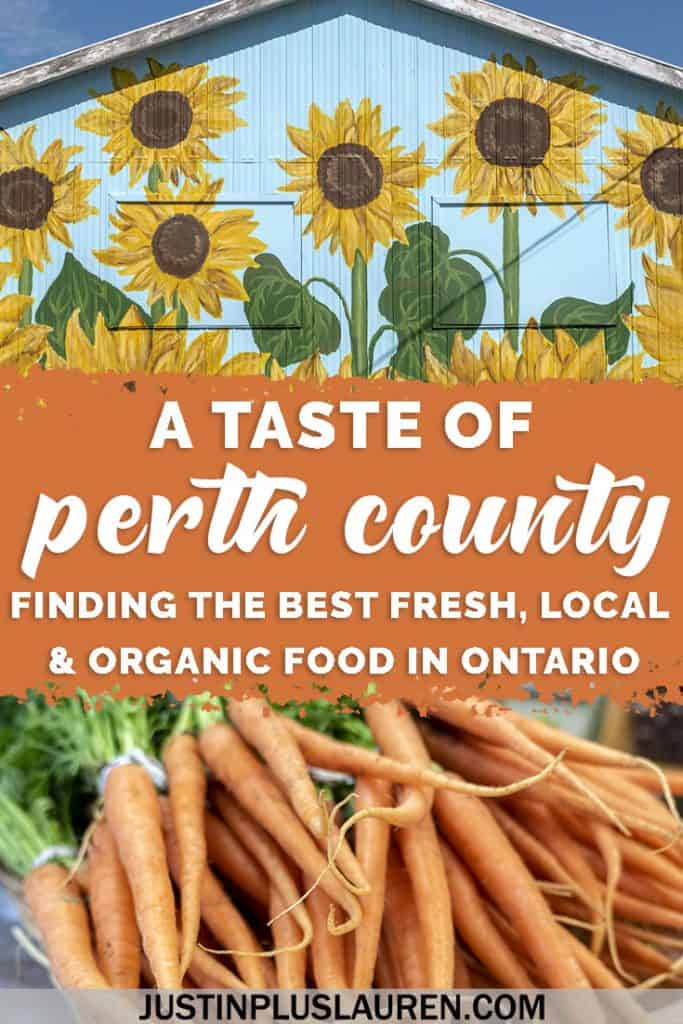 A Taste of Perth County Ontario: Fresh Local Produce, Farm Gates and the Organic Food Scene #Travel #PerthCounty #Ontario #Canada #Organic #Food #Local