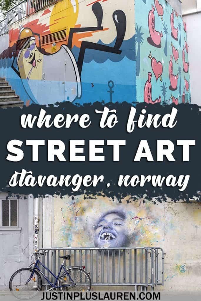 Calling All Street Art Lovers! Stavanger Street Art is Some of the Best You'll See #Stavanger #Norway #Travel #StreetArt #OutdoorArt #PublicArt #NuartFestival