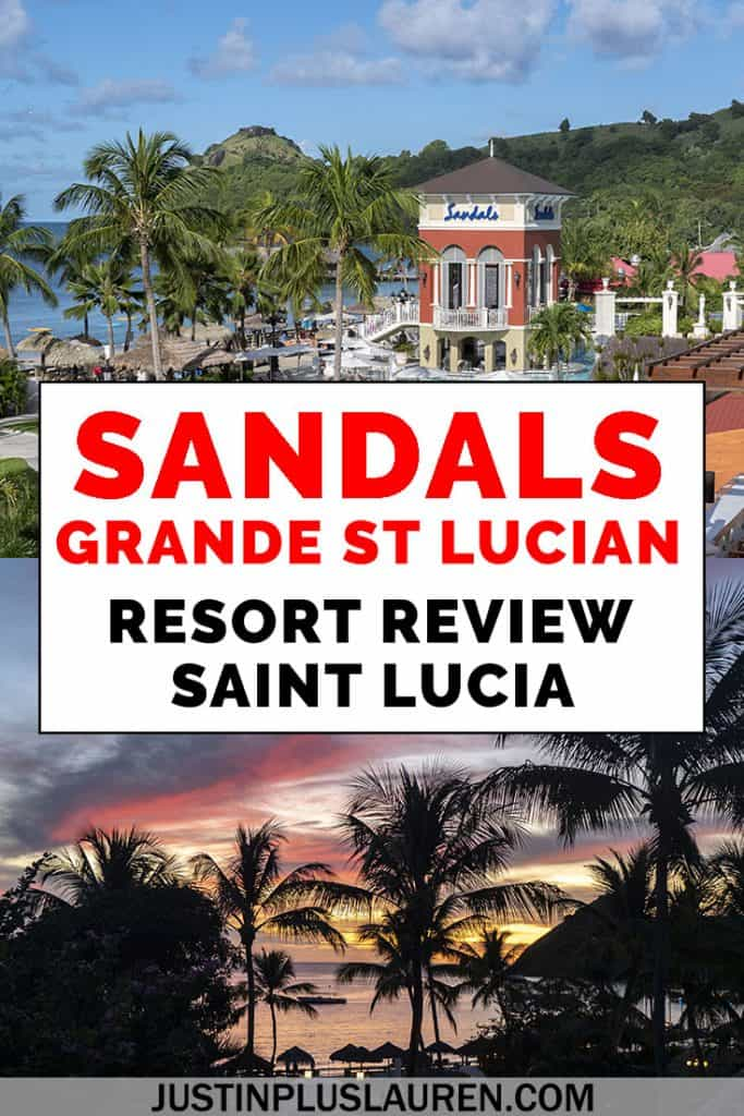 If you're seeking a tropical getaway in the Caribbean, Saint Lucia is a beautiful island for a vacation. Here's my full review of the Sandals Grande St Lucian resort. I've included everything you need to know about the food, beaches, pools, activities, and more! #Travel #SaintLucia #StLucia #Sandals #Resort #Caribbean