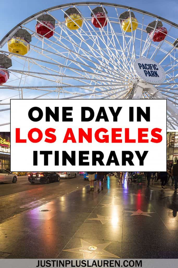 Traveling to LA but only have one day? Here's how to spend one day in Los Angeles. This Los Angeles itinerary is an amazing way to spend a day in the city. #LosAngeles #California #Travel #Itinerary #LA