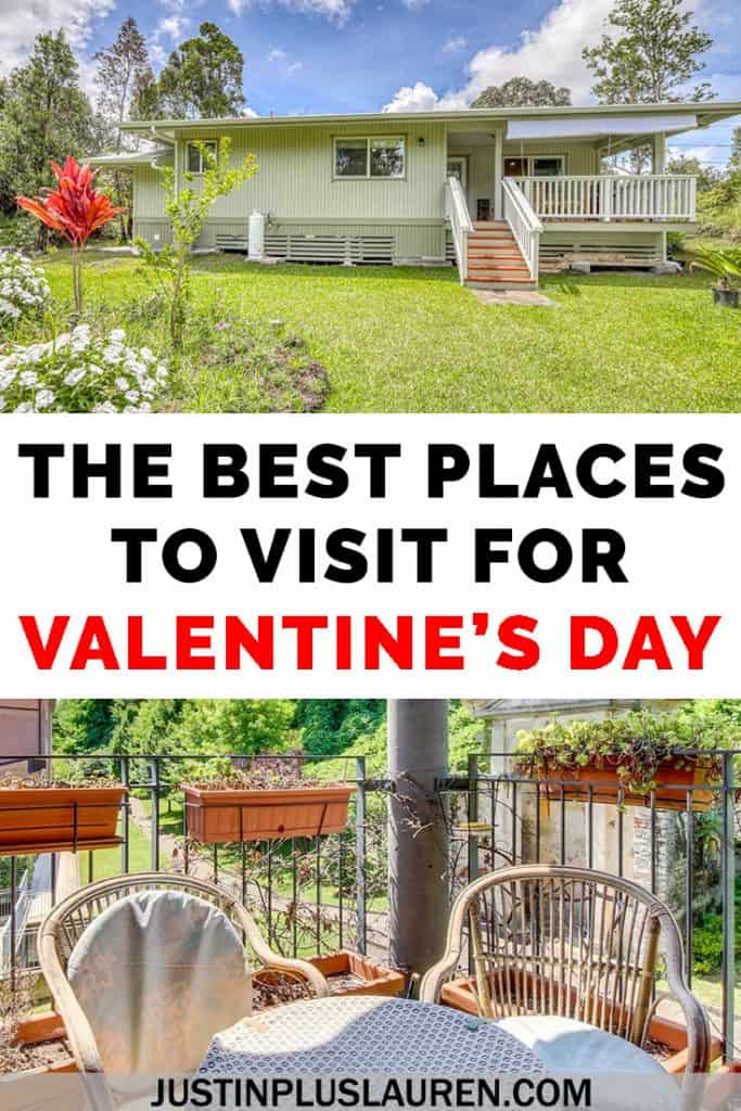 Choose travel over material things for Valentine's Day this year! Here are the best places to visit for Valentine's Day for a romantic vacation with your partner or a Galentine's Day getaway with the girls! Learn about the top places to go with Vacasa for unique experiences. #ValentinesDay #GalentinesDay #Travel #MyVacasa #Romance #Vacation