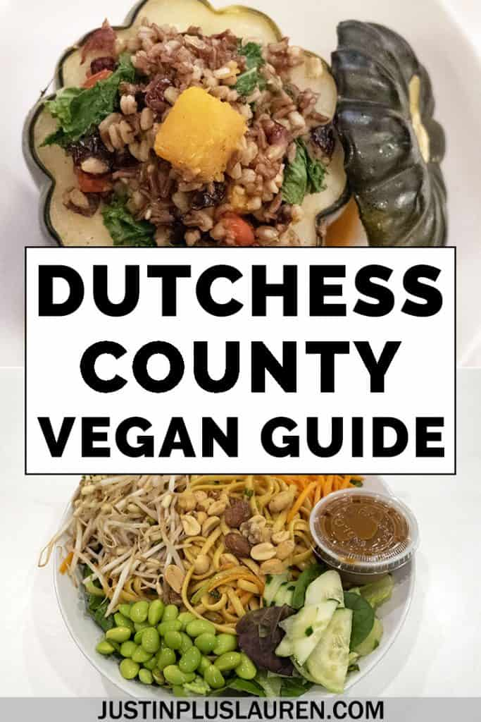 Here are the best restaurants in Dutchess County, New York with vegan and vegetarian options. There's lots of vegan food in the Hudson Valley, and you'll find some of the best vegan dining experiences in this blog post. #Vegan #Vegetarian #NewYork #DutchessCounty #Travel