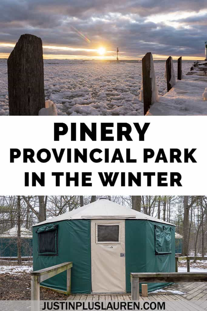 Pinery Provincial Park in the winter is an incredible destination, and you can spend the night in heated yurts! Sleep in a yurt, explore the nature of the park, participate in winter activities, and explore Grand Bend. #GrandBend #Pinery #ProvincialPark #Winter #Ontario #Canada