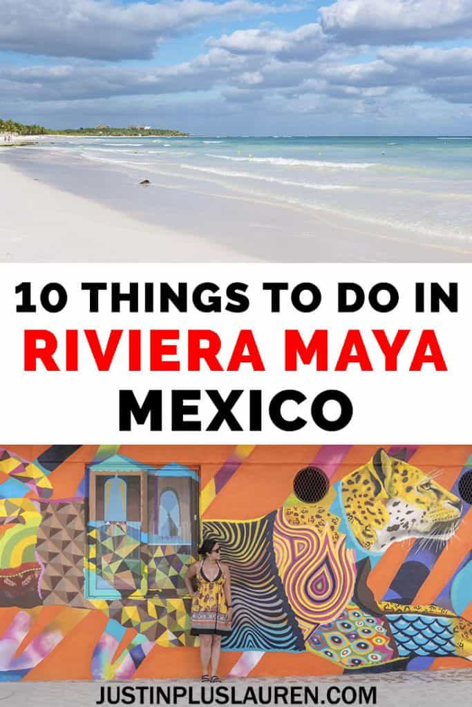 Planning a sunshine getaway to the Mayan Riviera? Here are the top 10 best things to do in Riviera Maya Mexico. There's something for everyone: snorkeling, exploring ancient Mayan ruins, and visiting places that you can only see in Mexico! #Mexico #MayanRiviera #RivieraMaya #Travel #ThingsToDo